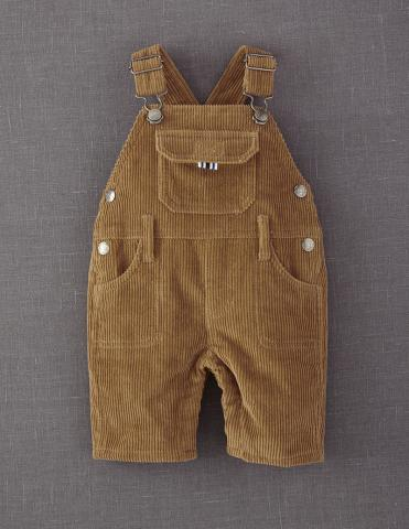 Light Brown Mini Boden Chunky Cord Dungarees