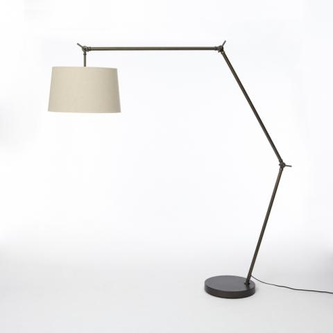 Recalled Industrial Overarching West Elm Floor Lamp