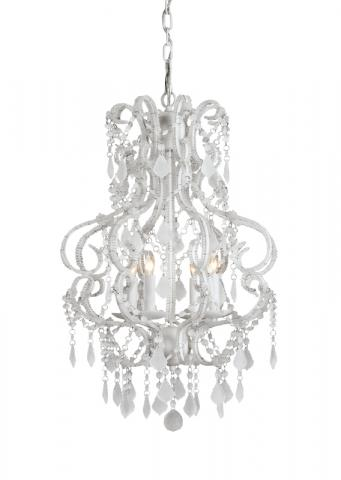 9063 Valentina chandelier small, white