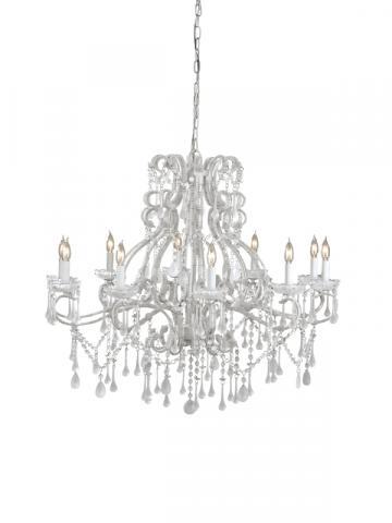 9064 Passionata chandelier, white