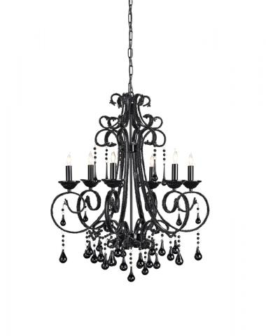 9065 Ovation chandelier, black