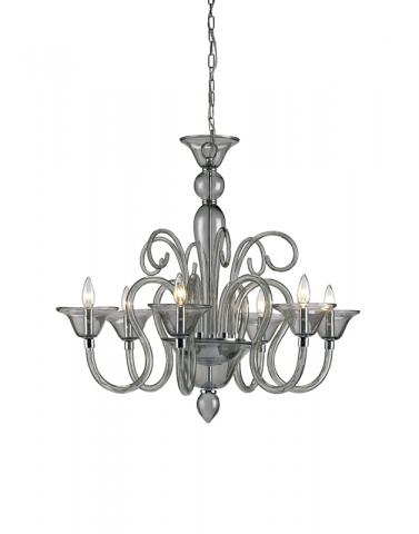 9150 Guilia chandelier, small, smoke
