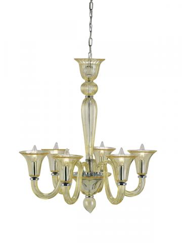 9152 Guistina chandelier, yellow