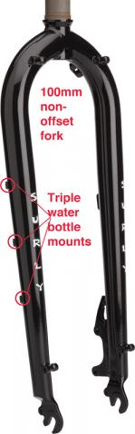 Surly 100mm non-offset bicycle fork