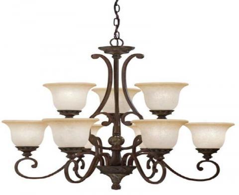 Kichler lighting recalls chandeliers due to injury hazard sold portfolio nine light kichler aztec chandelier model 34330 aloadofball Images