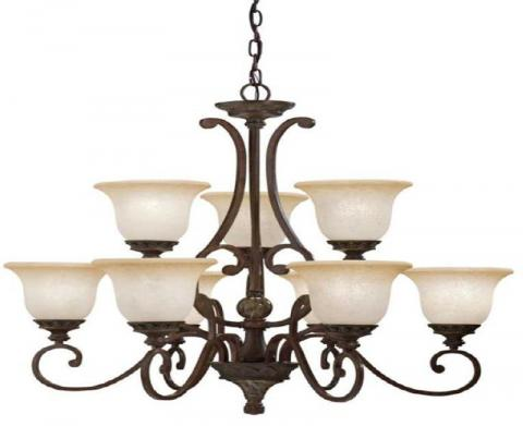 Kichler lighting recalls chandeliers due to injury hazard sold portfolio nine light kichler aztec chandelier model 34330 aloadofball Image collections