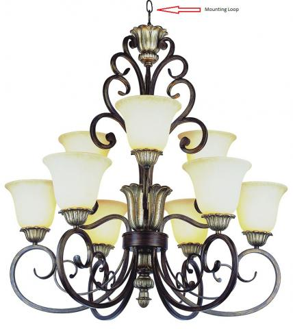 Portfolio and Transglobe nine-light chandeliers