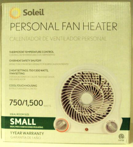 Box for Home Depot Soleil portable fan heater