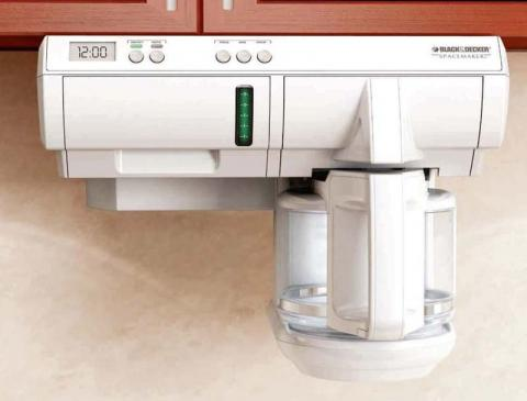 White 12-Cup Programmable Under-the-Cabinet Coffeemakers