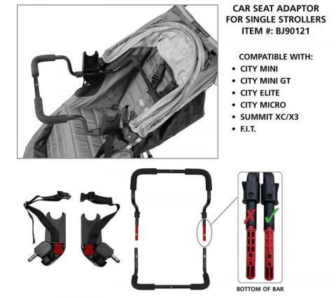 Single stroller and adaptor #BJ90121