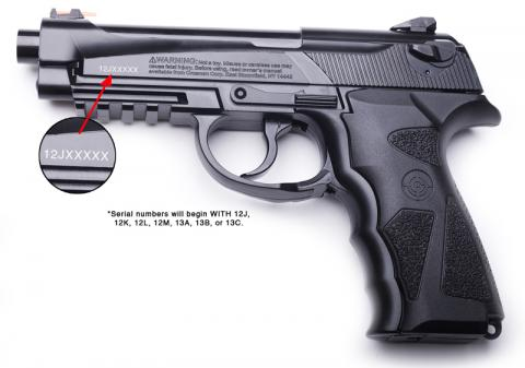 Recalled Crosman C31 and 9-C31BRM model air pistols