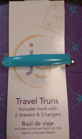 Metal handle on Journey Girl Travel Trunk