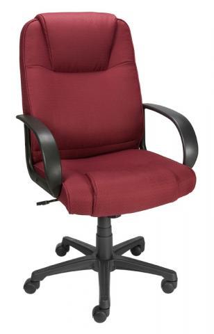 Bermond fabric chair in burgundy