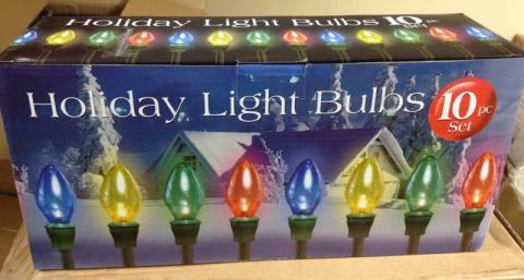 Big Lots Holiday Light Bulbs 10-piece set - Big Lots Recalls Holiday Pathway Lights Due To Fire Hazard (Recall