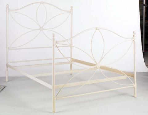 """Antique White """"Petal"""" bed frame"""