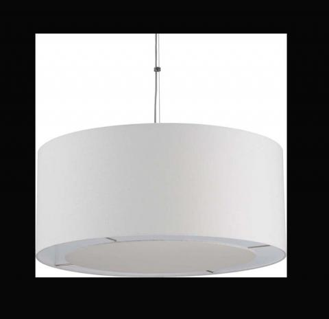 Crate and Barrel Finley Large White Pendant Lamp