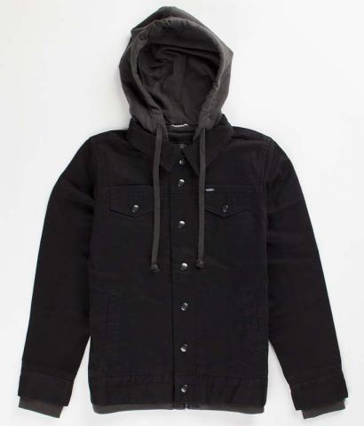 Vans Boys Hooded Jacket  - black cotton