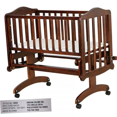 Lullaby Cradle Glider model 640E-Espresso
