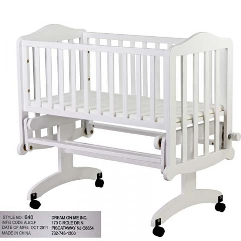 Lullaby Cradle Glider model 640W-White