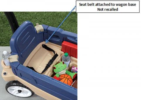 Step2® Whisper Ride Touring Wagon with seat belt attached to wagon base