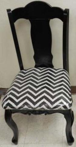 Hobby Lobby Black Accent Chair with Chevron Print
