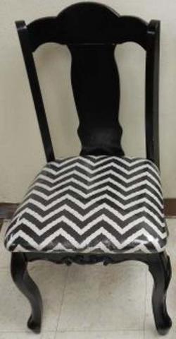 Hobby Lobby Black Accent Chair with Chevron Print
