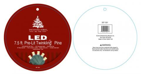 Twinkling Pine Artificial Christmas Tree -Tag