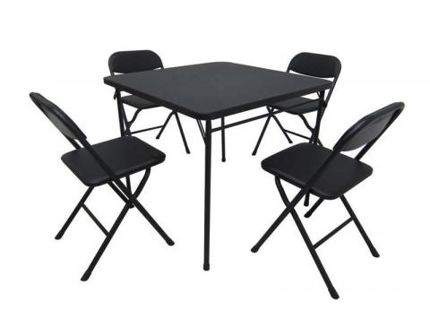 Walmart Mainstays five-piece card table and chairs set  sc 1 st  Consumer Product Safety Commission & Walmart Recalls Card Table and Chair Sets | CPSC.gov
