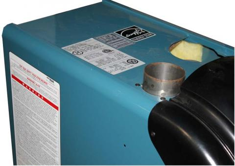 ESC boiler rating label location