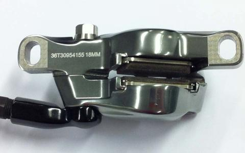 SRAM brakes serial number location on a disc caliper