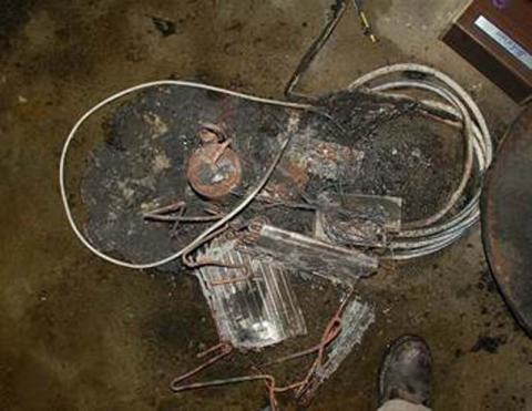 Property damage from fire involving a recalled GE dehumidifier
