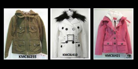 Recalled Sugarfly-branded girls' hooded jackets