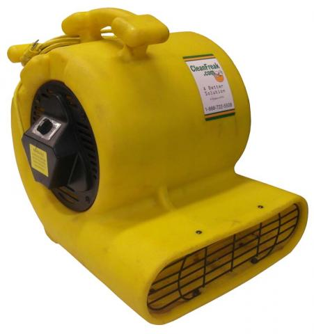 Recalled yellow air mover (front left side view)