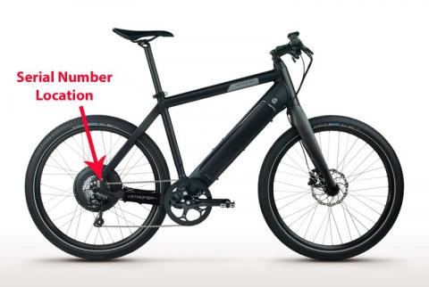 Recalled Stromer ST1 electric bicycle