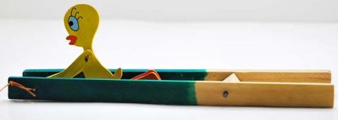 Minga Fair Trade yellow bird acrobat toy