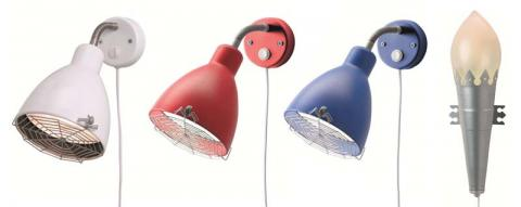 MINNEN children's wall-mounted lamps