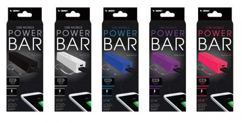 Vibe USB Mobile Power Bars in packaging