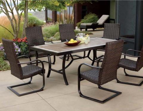 Superb Dimensions 7 Piece Patio Dining Set