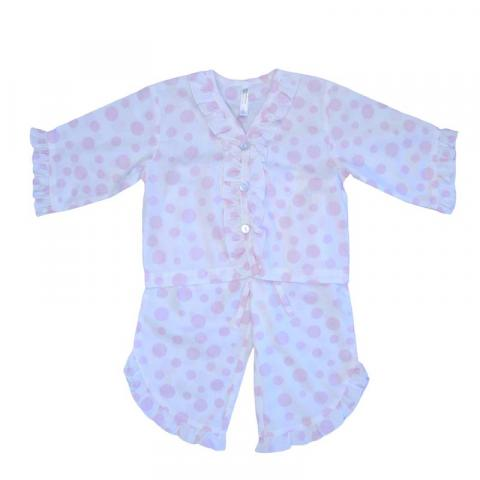 Empress Arts pink dot children's pajamas