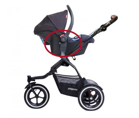 TS26 adaptor on a stroller