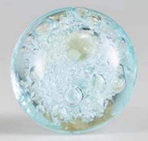 Cost Plus World Market Glass Blue Bubble Knobs