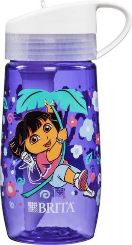 Botella de agua de Dora the Explorer®, Dora la Exploradora (frente y parte trasera)
