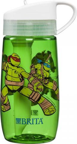 Botella de agua de Teenage Mutant Ninja Turtles®, Tortugas Ninja (frente y parte trasera)