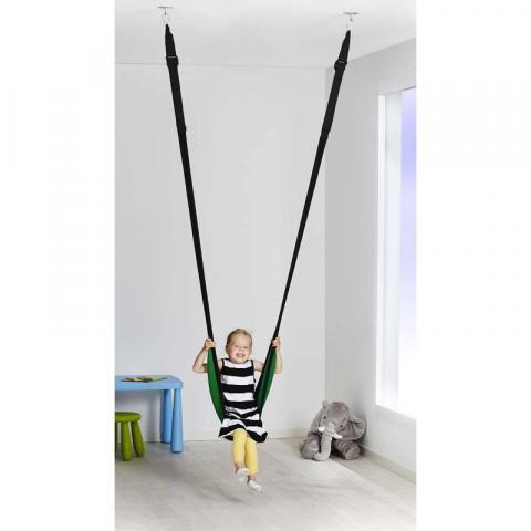 IKEA GUNGGUNG Swing with child in sling seat