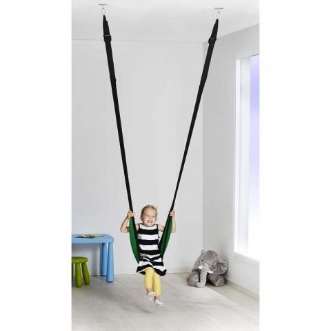 IKEA GUNGGUNG Swing with child in sling seat