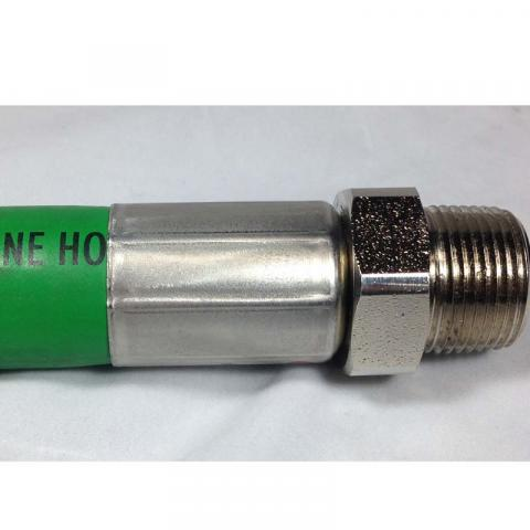 "Green 1"" FLEX-ING™ FLEX-ON Hardwall Curb Hose crimp"