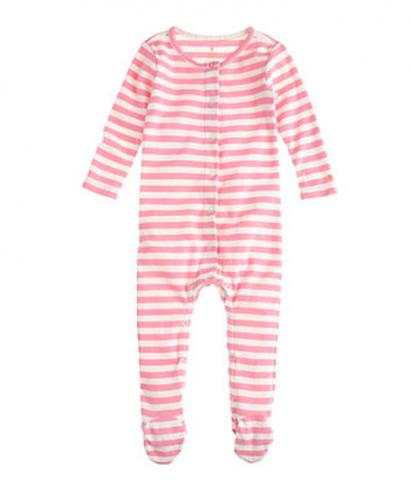 J.Crew Classic Stripe Baby Coveralls