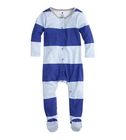 J.Crew George Stripe Baby Coveralls