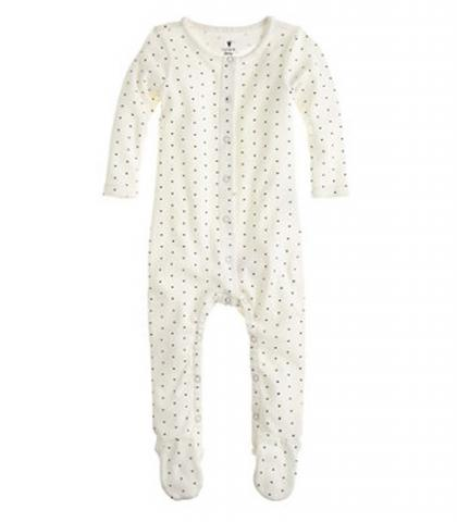 J.Crew Pin Heart Baby Coveralls