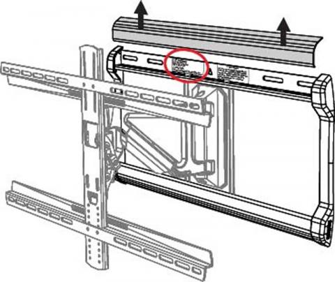 Label location circled in red, under plastic cover.